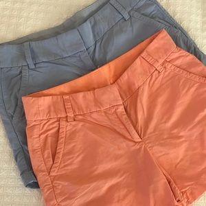J Crew shorts Lot of 2.  Size 4
